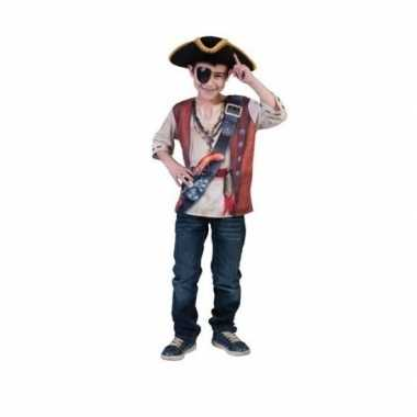3D piraat shirt voor kids carnaval
