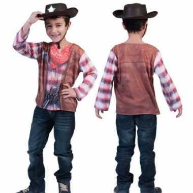 3D Western shirt voor kinderen carnaval