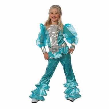 Abba kostuum blauw voor meisjes carnaval