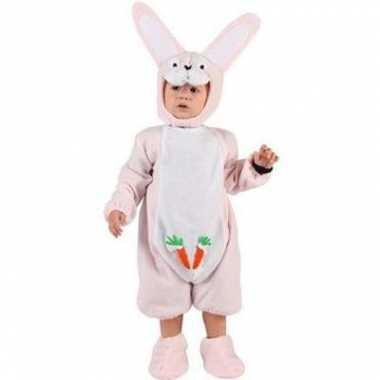 Baby kostuum roze konijntje voor carnaval