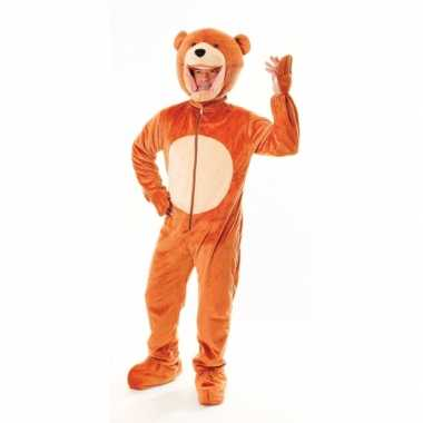 Beren kostuum lichtbruin voor carnaval