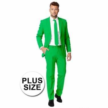 Big size heren kostuum groen voor carnaval