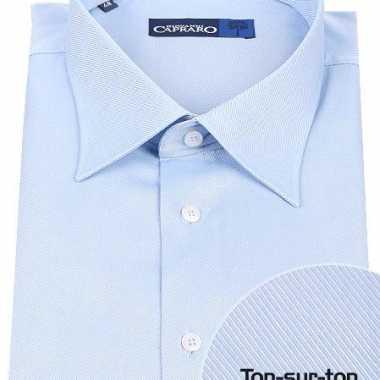 Blauw overhemd voor heren met extra lange mouwen carnaval