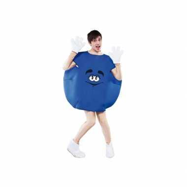 Blauw snoep verkleedkleding voor carnaval