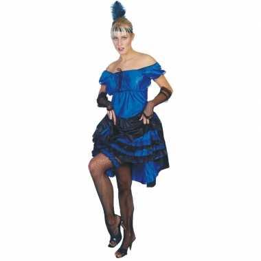 Blauwe carnaval salsa jurk voor