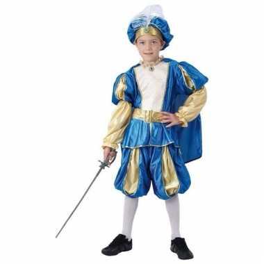 Blauwe oosterse prins kostuum voor jongens carnaval
