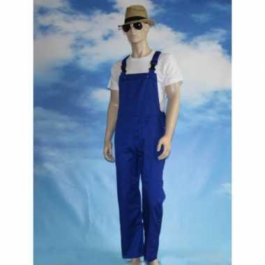 Blauwe tuinbroek voor kinderen carnaval