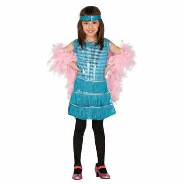 Blauwkleurige jurk voor meisjes carnaval