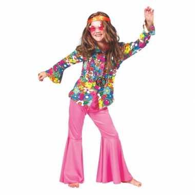 Blouse hippie bloemen voor kinderen carnaval