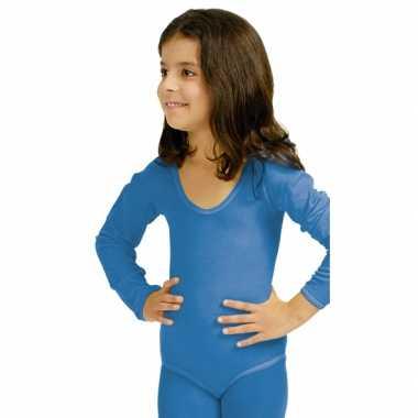 Bodystocking blauw voor kinderen carnaval