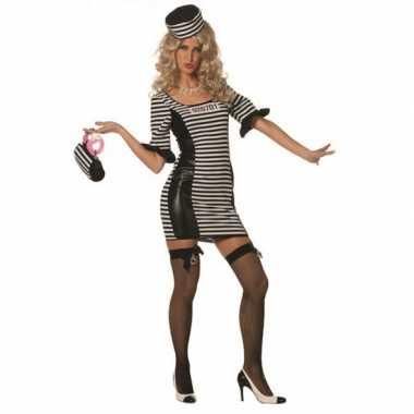 Boeven jurkje met hoed voor dames carnaval