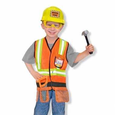 Bouwvakker kostuum voor jongens carnaval