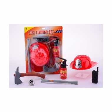 Brandweer accessoires pakket voor carnaval