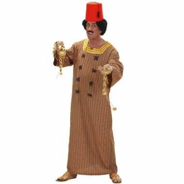 Bruin marrokaans heren kostuum voor carnaval