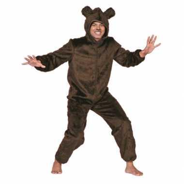 Bruine beer kostuum volwassenen voor carnaval