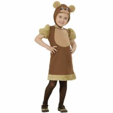 Bruine beren kostuum voor meisjes carnaval