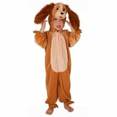 Bruine hond outfit voor kinderen carnaval