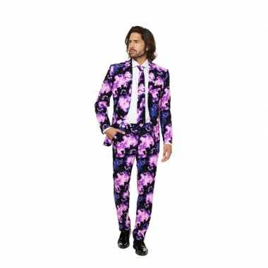 Business suit met galaxy print voor carnaval