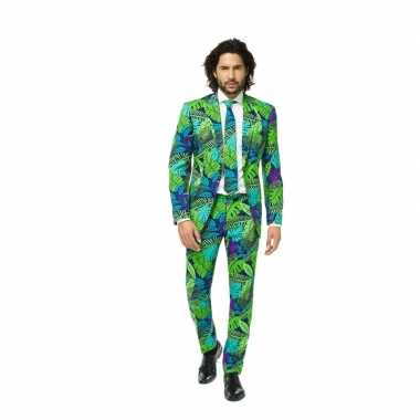 Business suit met jungle print voor carnaval