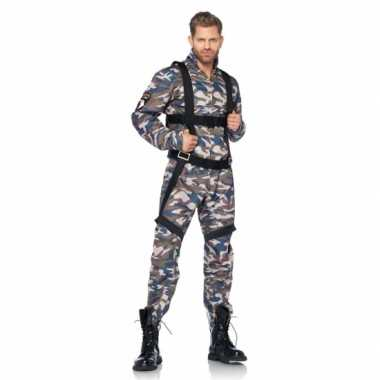 Camouflage parachutist kostuum voor carnaval