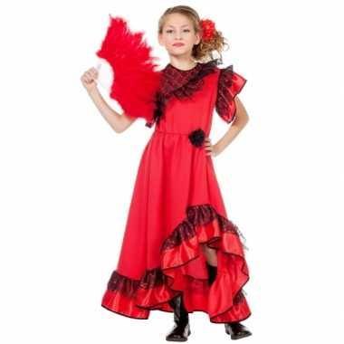 Carmen jurk voor meiden carnaval