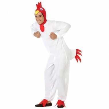 Carnaval dieren kostuum kip/haan voor heren
