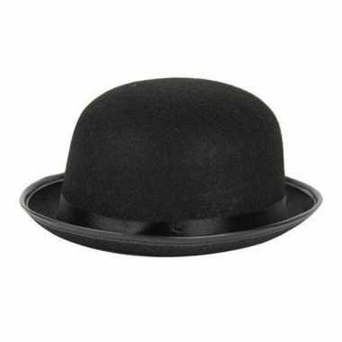 Carnaval/feest bolhoed/bowler hat zwart voor volwassenen