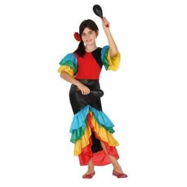 Carnaval/feest braziliaanse verkleedoutfit jurk voor meisjes