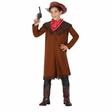 Carnaval/feest bruine cowboy john verkleedoutfit voor jongens