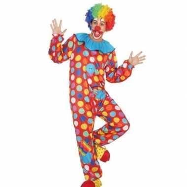 Carnaval/feest clown verkleed outfit voor heren