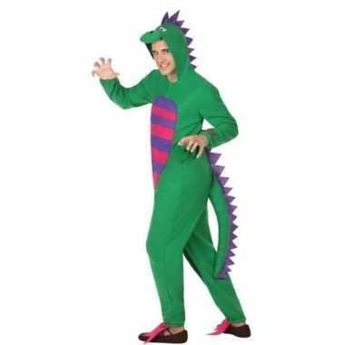 Carnaval/feest groene draak verkleed outfit voor volwassenen