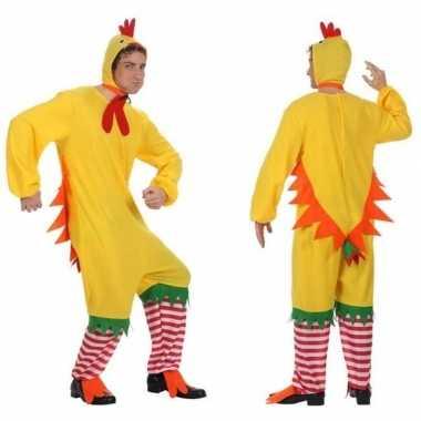 Carnaval/feest haan/kip/kuiken verkleed outfit voor heren