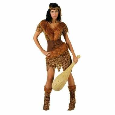 Carnaval/feest holbewoonster ayla oertijd verkleedoutfit voor dames