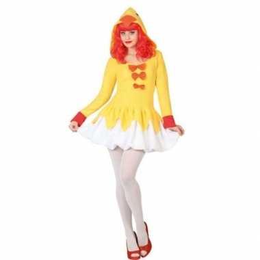 Carnaval/feest kip/kuiken verkleed outfit voor dames