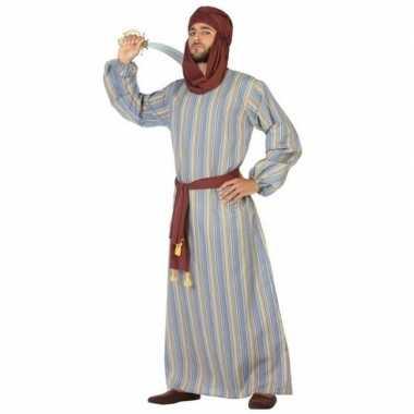 Carnaval/feest lange arabische verkleedoutfit ali voor heren