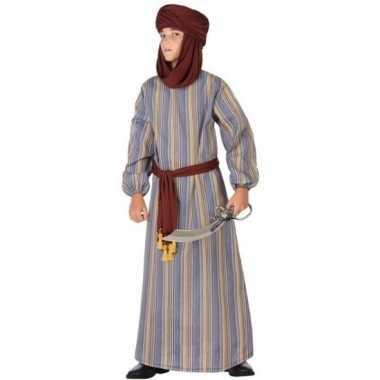 Carnaval/feest lange arabische verkleedoutfit ali voor jongens
