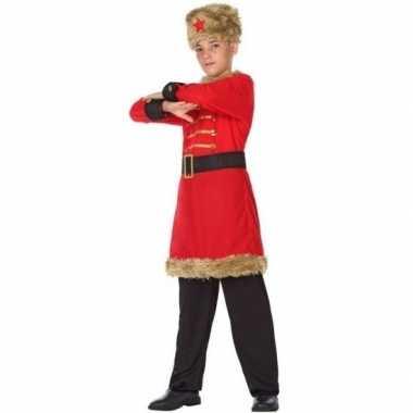 Carnaval/feest russische kozak verkleedoutfit voor jongens