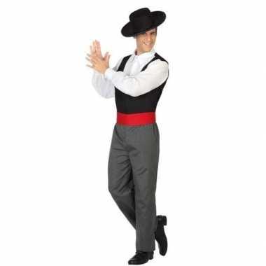 Carnaval/feest spaanse flamenco dansers verkleedoutfit voor heren