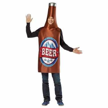 Carnavalskleding bierfles pak voor