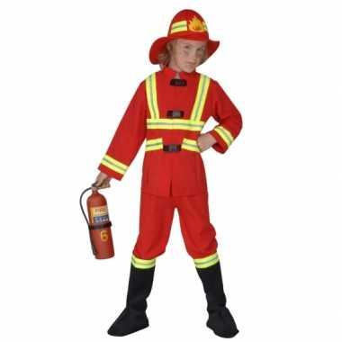 Carnavalskleding brandweer kostuum voor