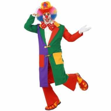 Carnavalskleding clown jas volw