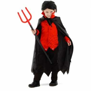 Carnavalskleding dracula/vampier verkleedoutfit voor jongens/meisjes/