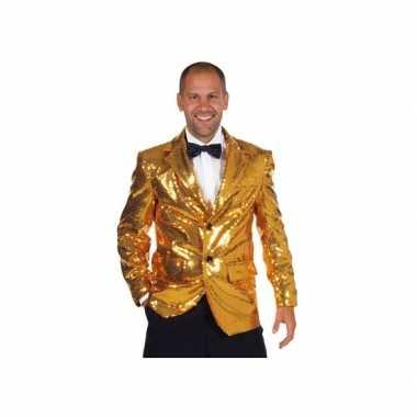 Carnavalskleding gouden colbert voor