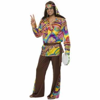 Carnavalskleding hippie kostuum voor