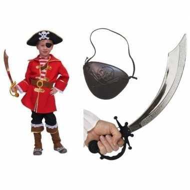 Carnavalskleding kapitein piraat voor kids