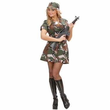 Carnavalskleding soldaat jurkje voor
