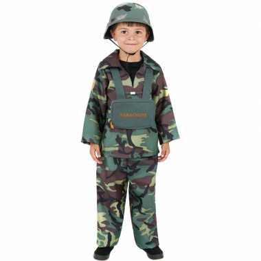 Carnavalskleding soldaat kinderen voor