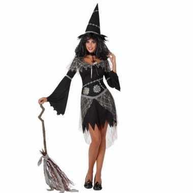 Carnavalskostuum heksenjurk zwart voor dames