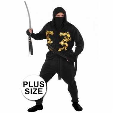 Carnavalskostuum ninja voor heren xxl