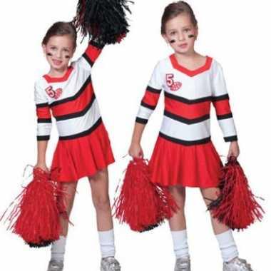 Cheerleader outfit voor meisjes carnaval